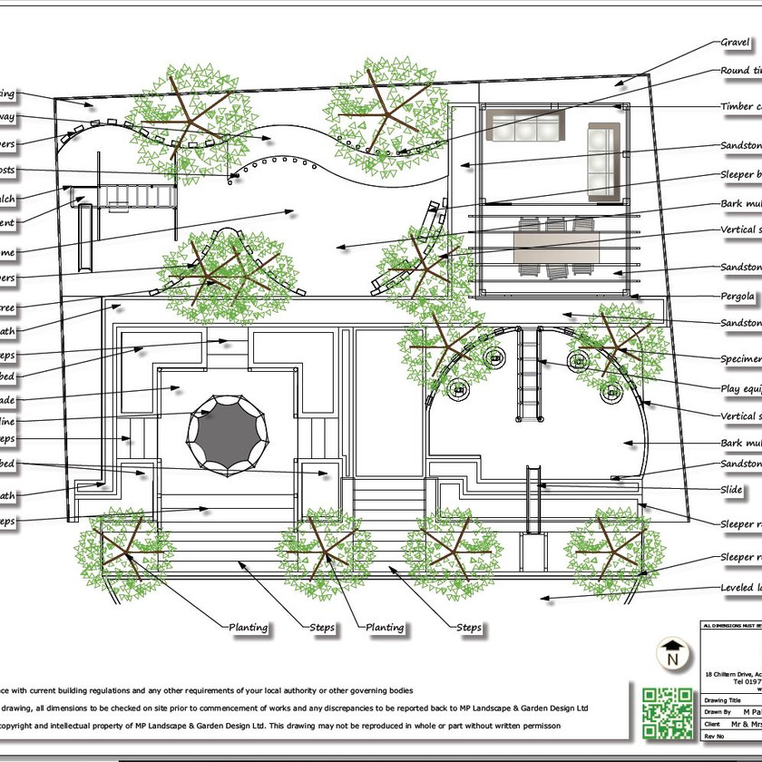 2, Childrens play garden, black and white concept plan-1, Pontefract