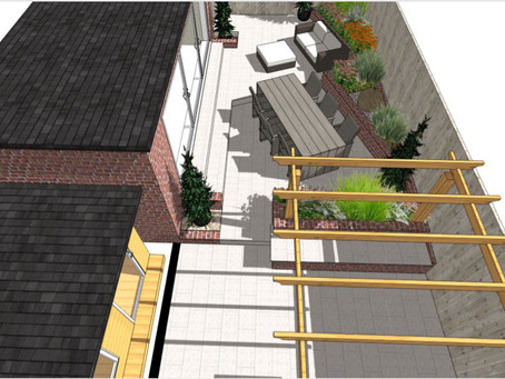 Courtyard garden design in Wakefield