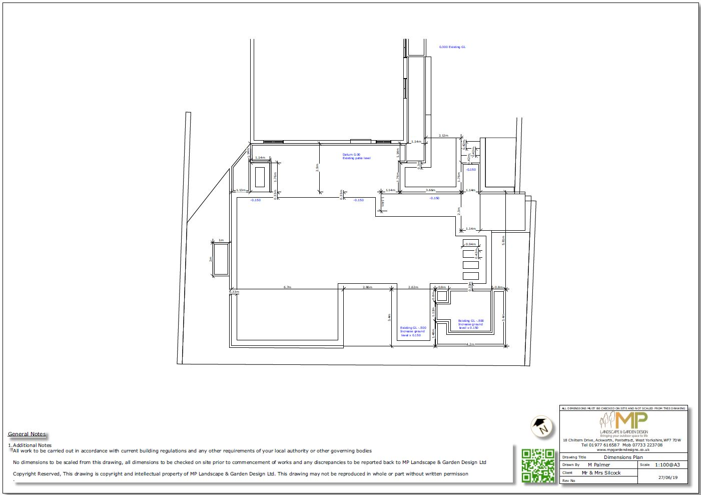 4, Garden layout dimensions plan for a property in Mickelfield