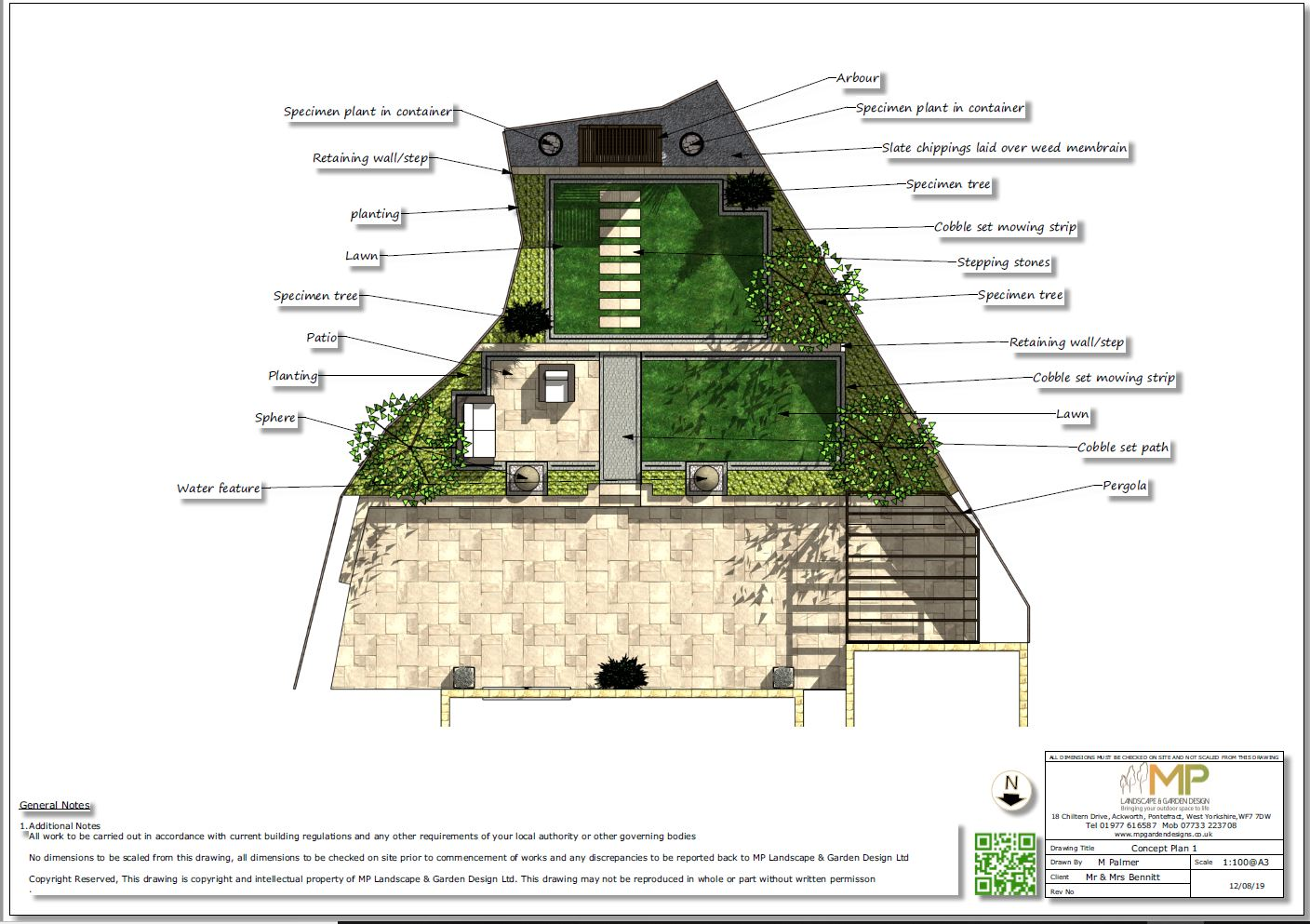 1. Concept plan for a new build property in Wakefield.