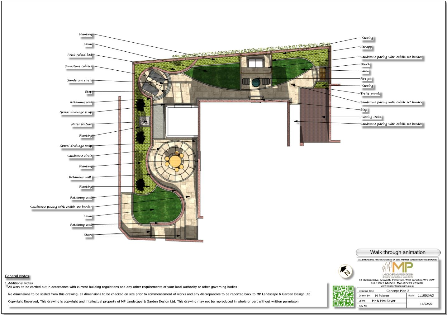 4. Colour concept plan for a property in Castelford.