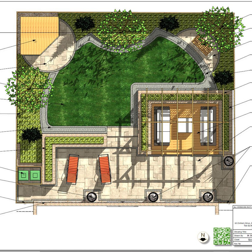 1, Colour concept plan-1 for a property in Wakefield