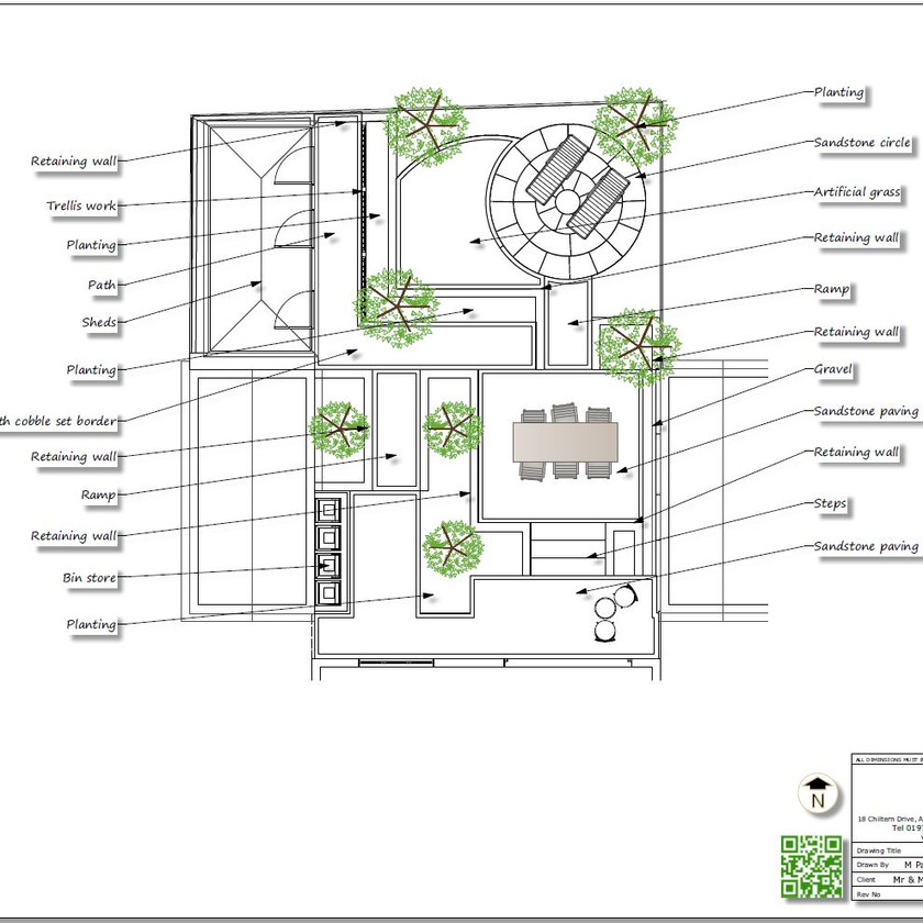 5, Black and white concept plan-2 for a property in Sherburn In-Elmet