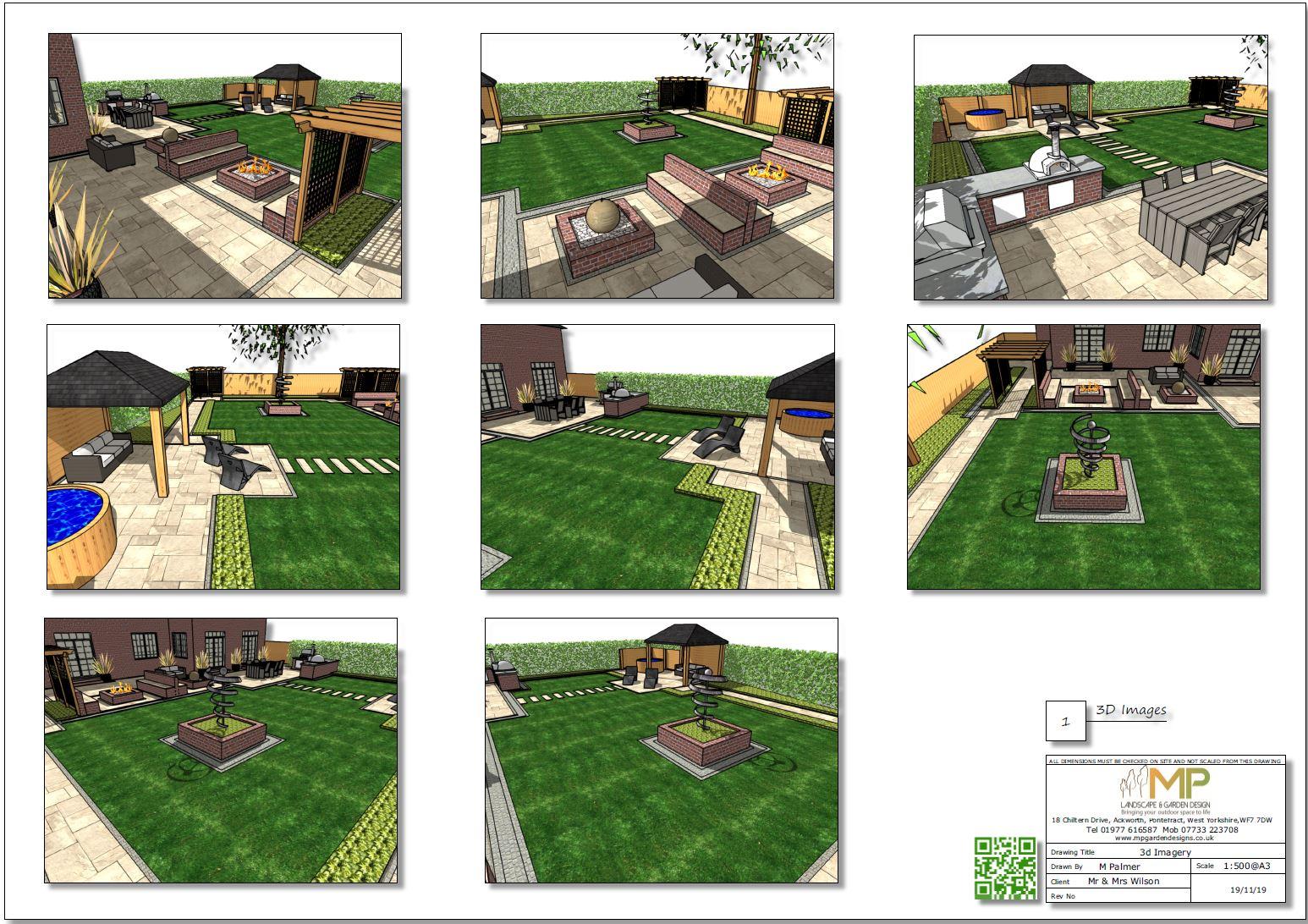 3. 3D Colour concept plan-1, garden designer Wakefield
