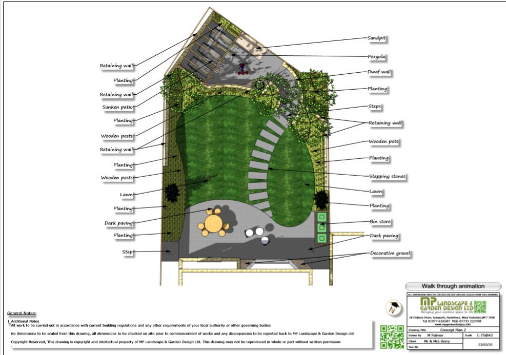 6, Colour concept plan-2 for a new build property in Wakefield