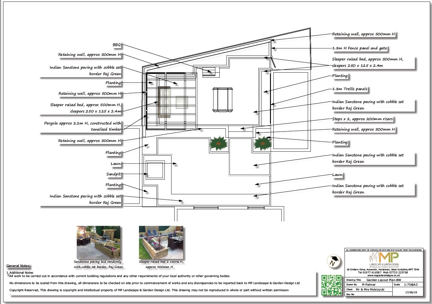 2, Black and white darden layout plan for a property in Normanton, West Yorkshire.