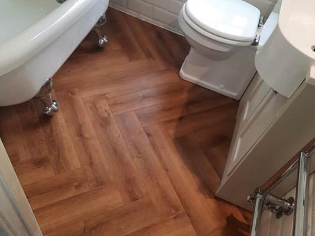 Herringbone LVT flooring, Doncaster