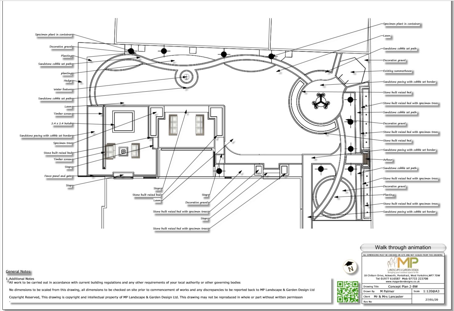 Concept plan -2 for a property in Kirk Smeaton