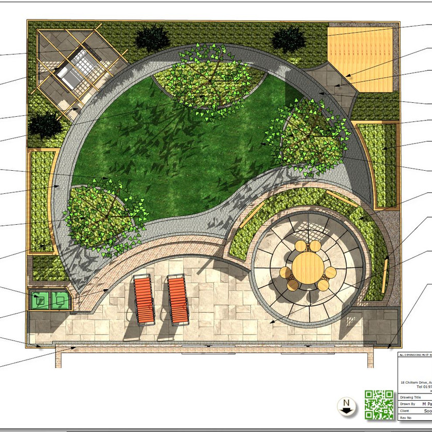 4, Colour concept plan-2 for a property in Wakefield