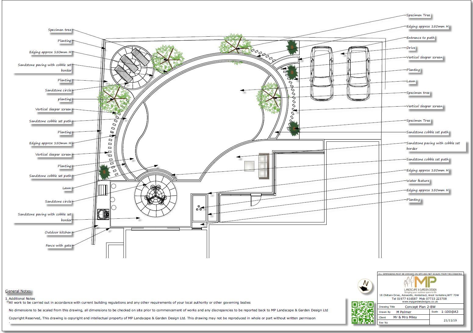 5, Landscape designer Wakefield, Concept plan-2