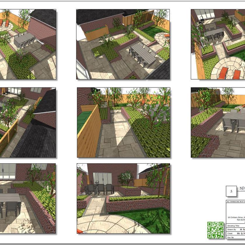 6, Colour 3D plan-1 for a property in Sherburn In-Elmet