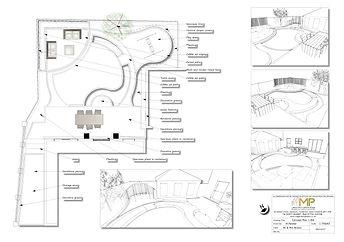 Garden design Concept Plan-1-BW, Wakefield