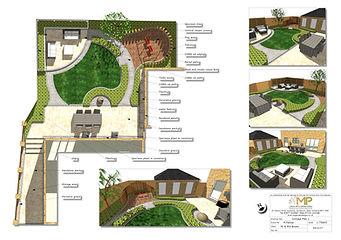 Garden design Concept Plan-1, Wakefield