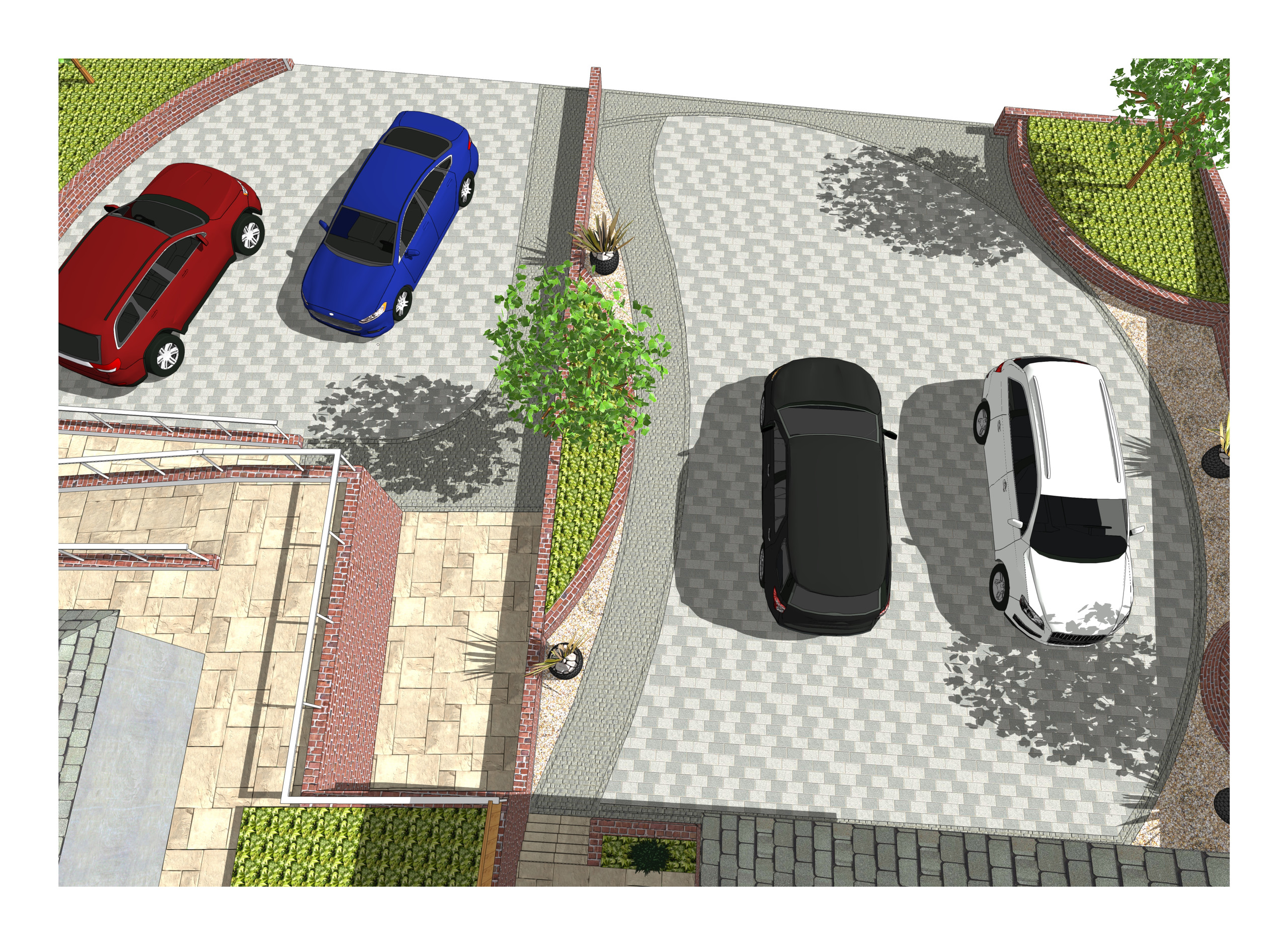 5. 3D images for a new build property in Uton West Yorkshire. Garden designer in Wakefield