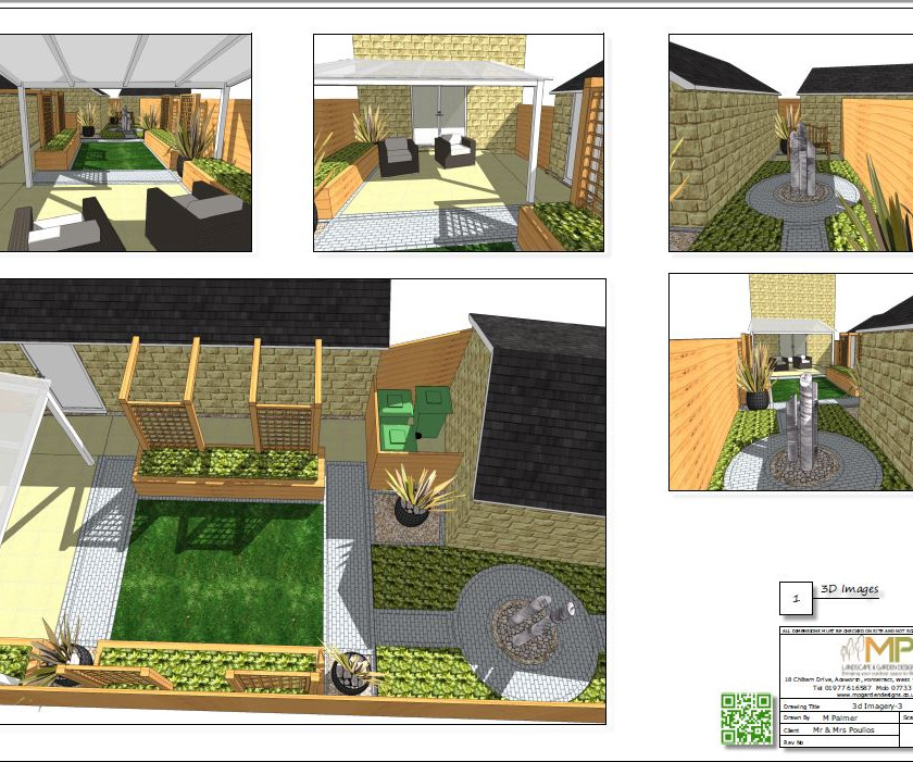 Concept plan-3 3D images for a new build property in Wakefield.