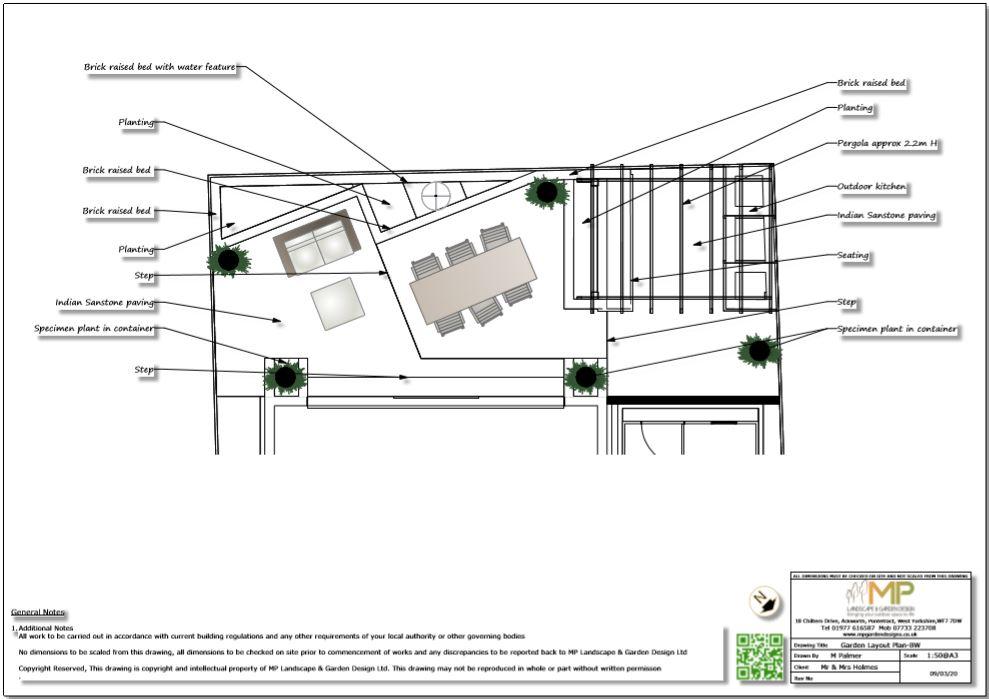 3, Garden layout plan, Wakefield.
