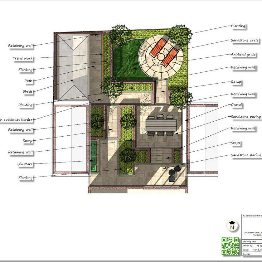4, Colour concept plan-2 for a property in Sherburn In-Elmet