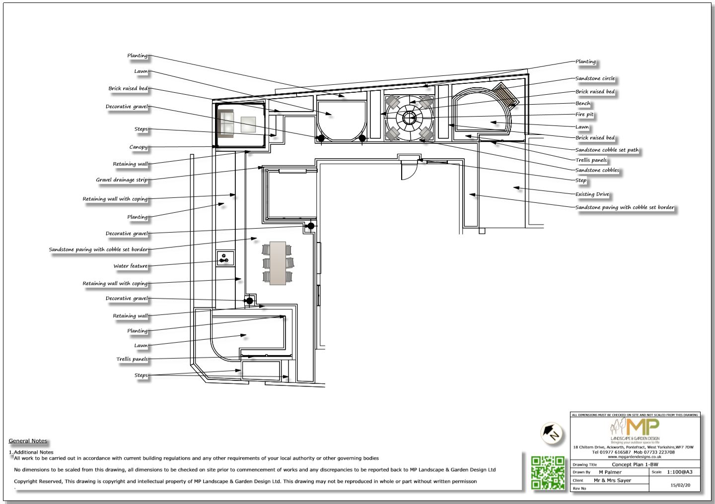 2. Concept plan for a property in Castelford.