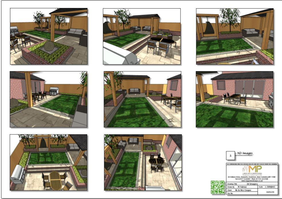 3-Colour concept plan-1 3D images for a small garden in Pontefract