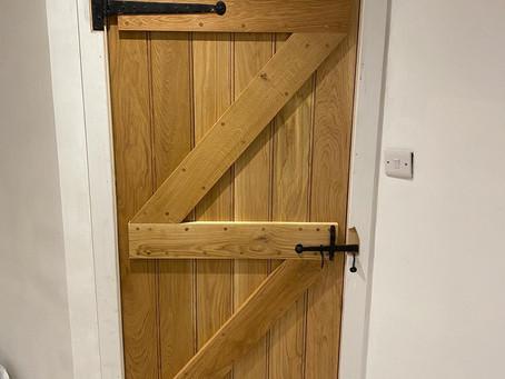 Oak ledge and brace doors, in Pateley bridge, Shire Joinery