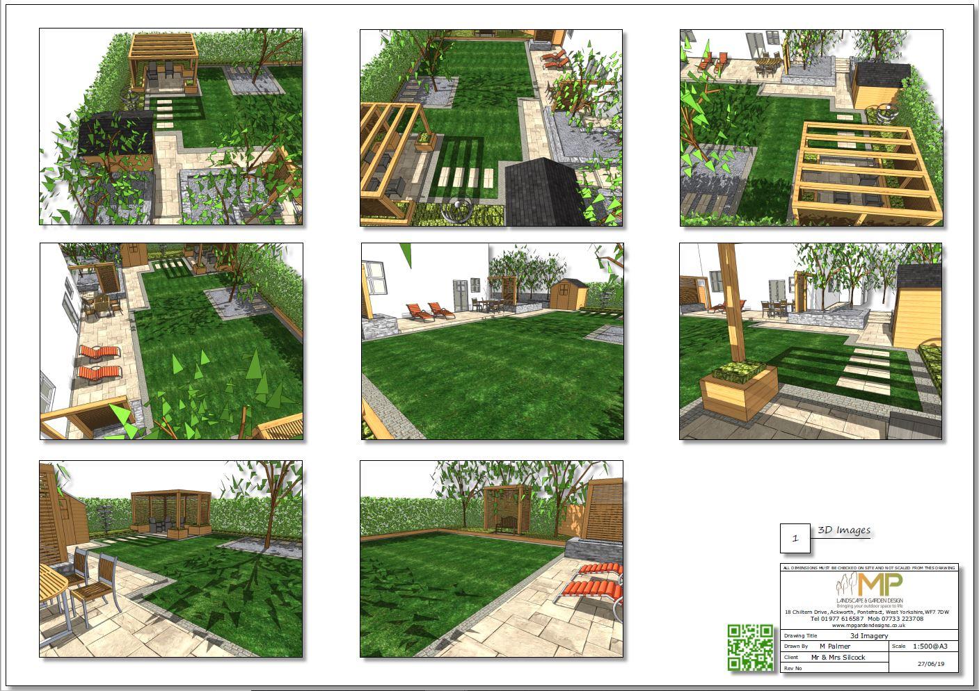 3, Garden layout 3D plan for a property in Mickelfield