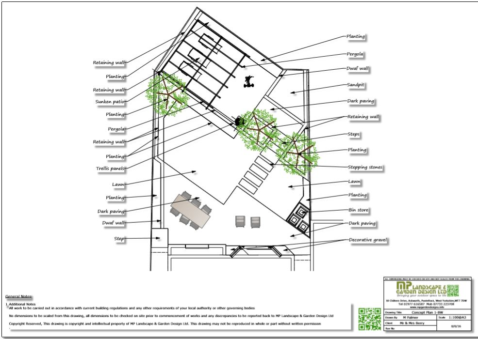 3, Concept plan-1 for a new build property in Wakefield