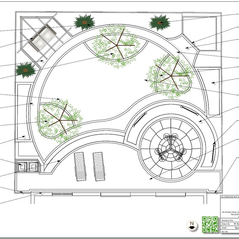 2, Black and white concept plan-1 for a property in Wakefield