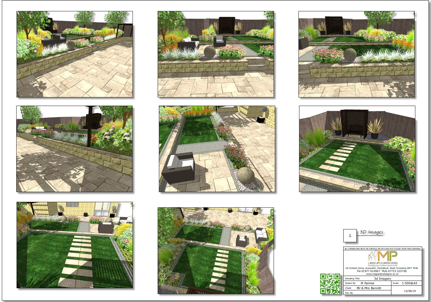 3-Garden layout 3D images for a new bild property in Wakefield