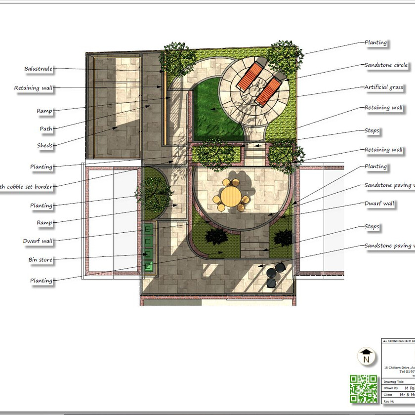 1, Colour concept plan-1 for a property in Sherburn In-Elmet