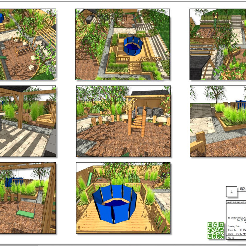 3, Childrens play garden, 3D concept plan-1, Pontefract