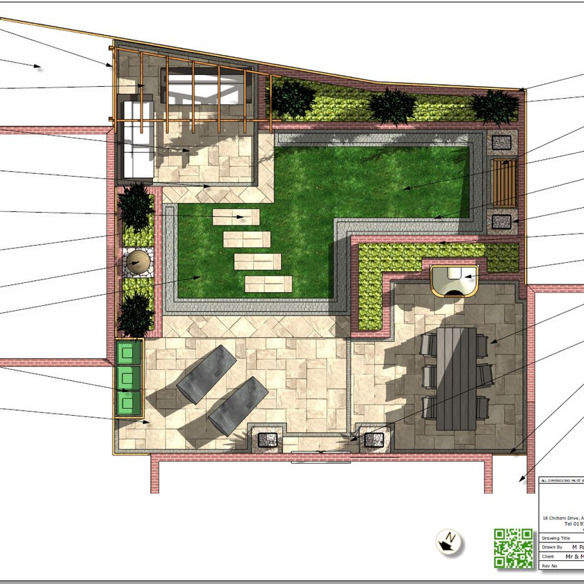 Concept plan-2 for a new build property in Pontefract, West Yorkshire.