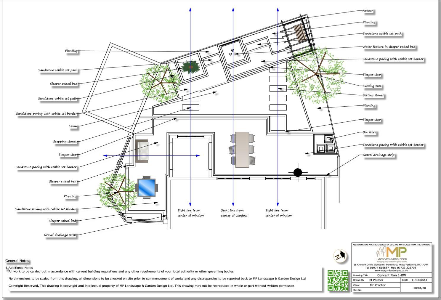3, Concept plan-1 for a rear garden in South Kirkby