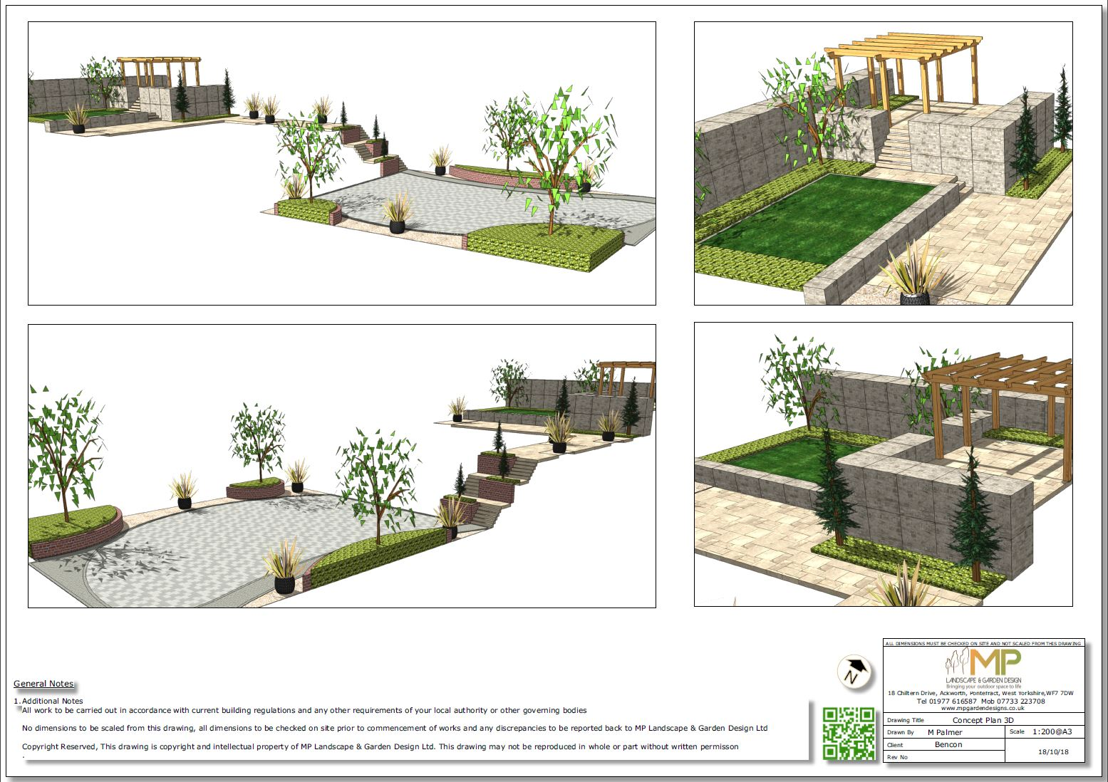 12. 3D images for a new build property in Uton West Yorkshire. Garden designer in Wakefield