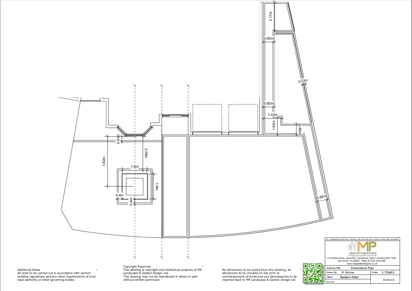 layout dimensions plans for a property in Ackworth, Pontefract.