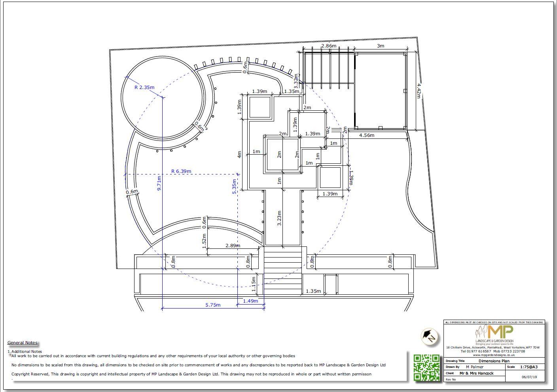 4, Childrens play garden, Dimensions plan, Pontefract