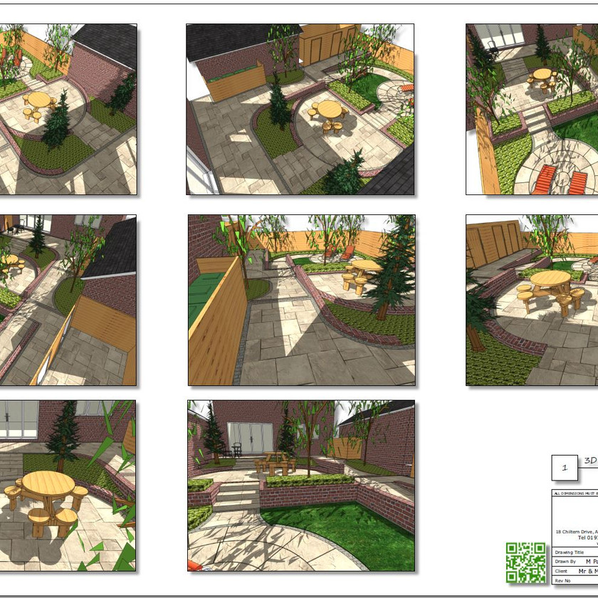 3, Colour 3D plan-1 for a property in Sherburn In-Elmet