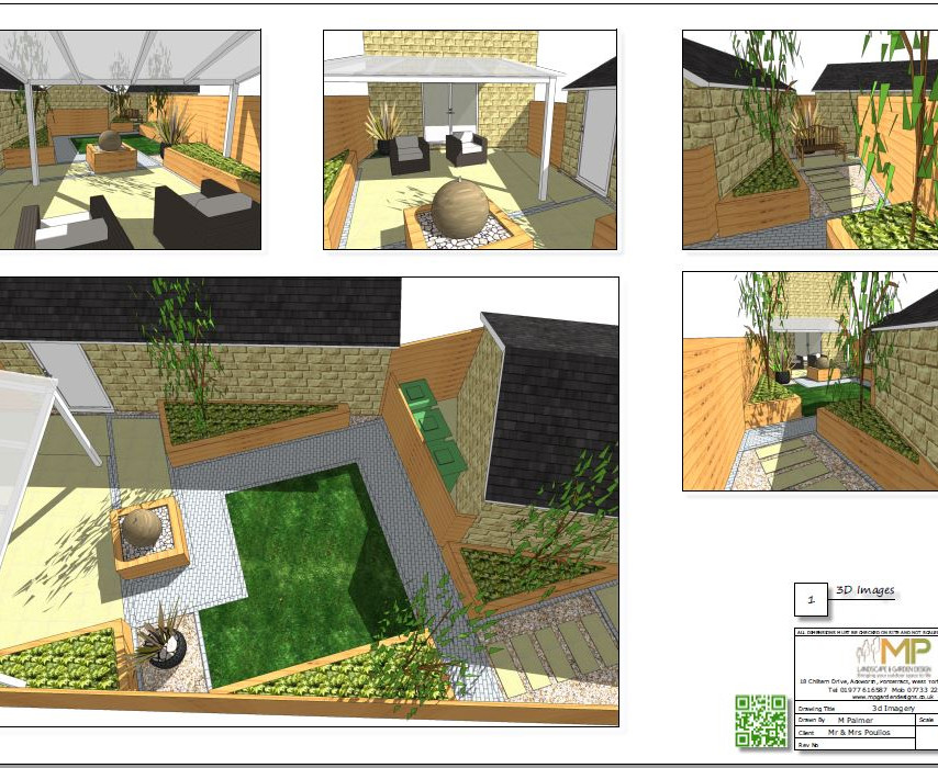 Concept plan-1, 3D images for a new build property in Wakefield, West Yorkshire.