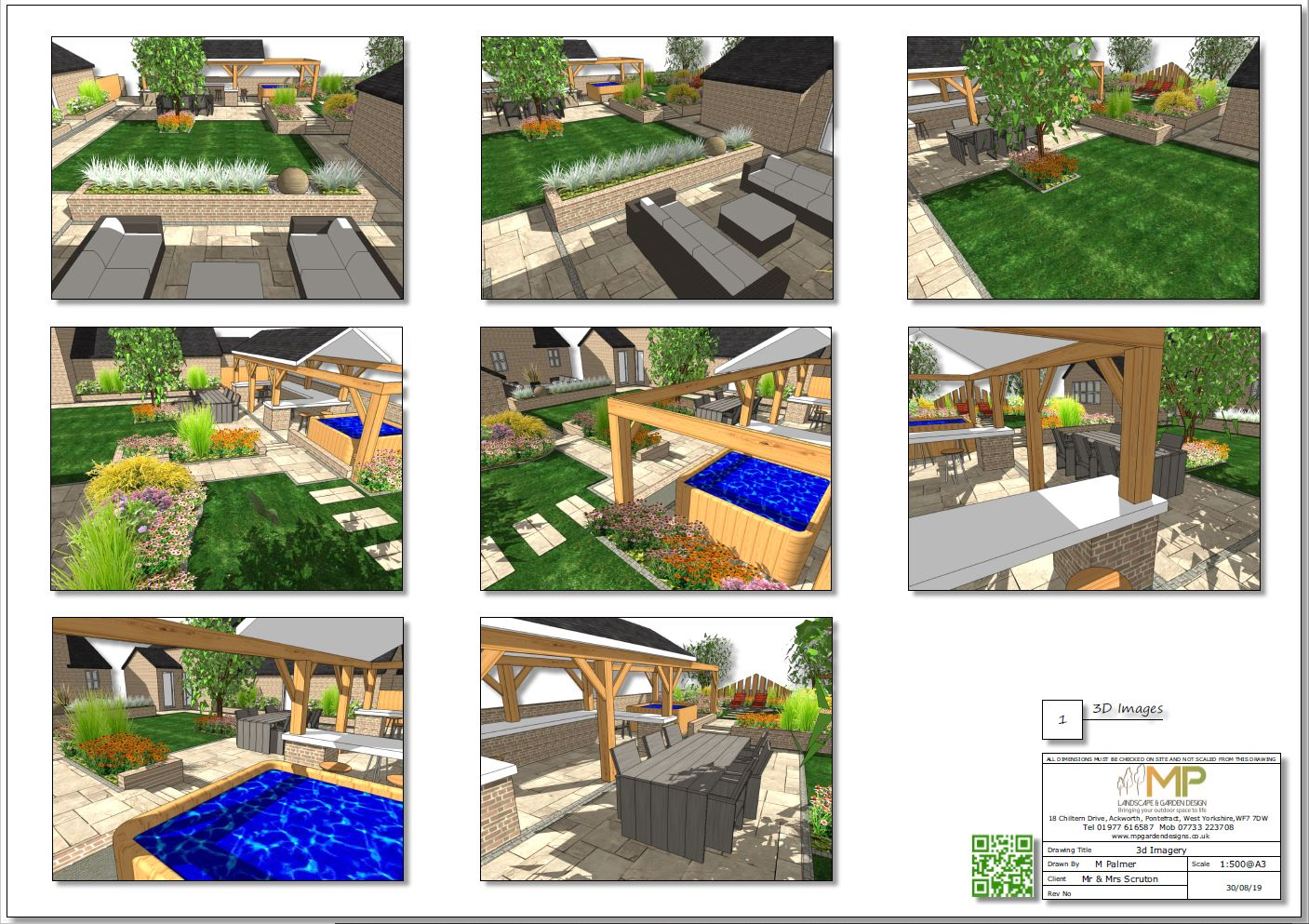 3. Garden layout plan 3D images for a property in Pollington