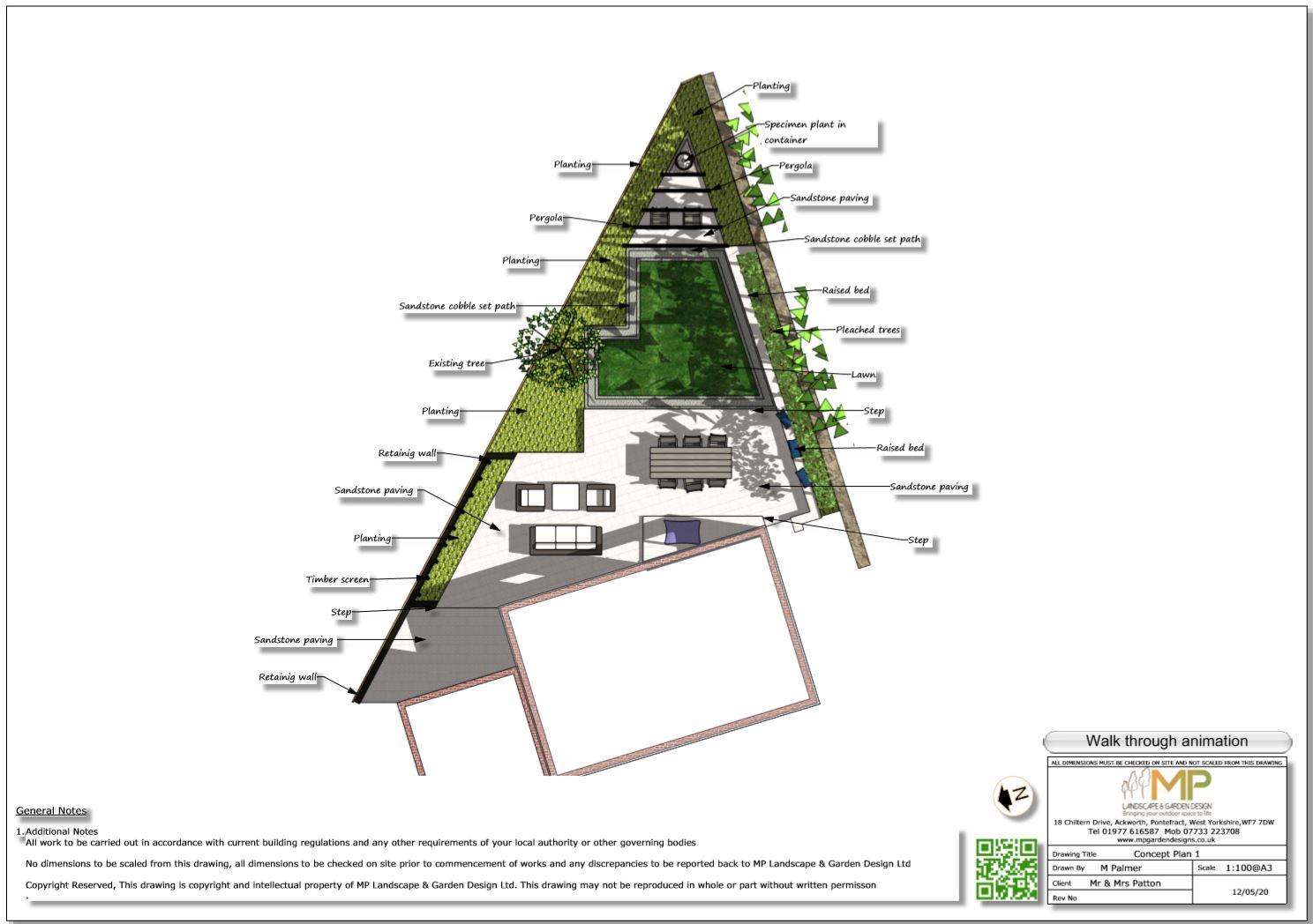 2, Colour concept plan-1, Stanley, Wakefield
