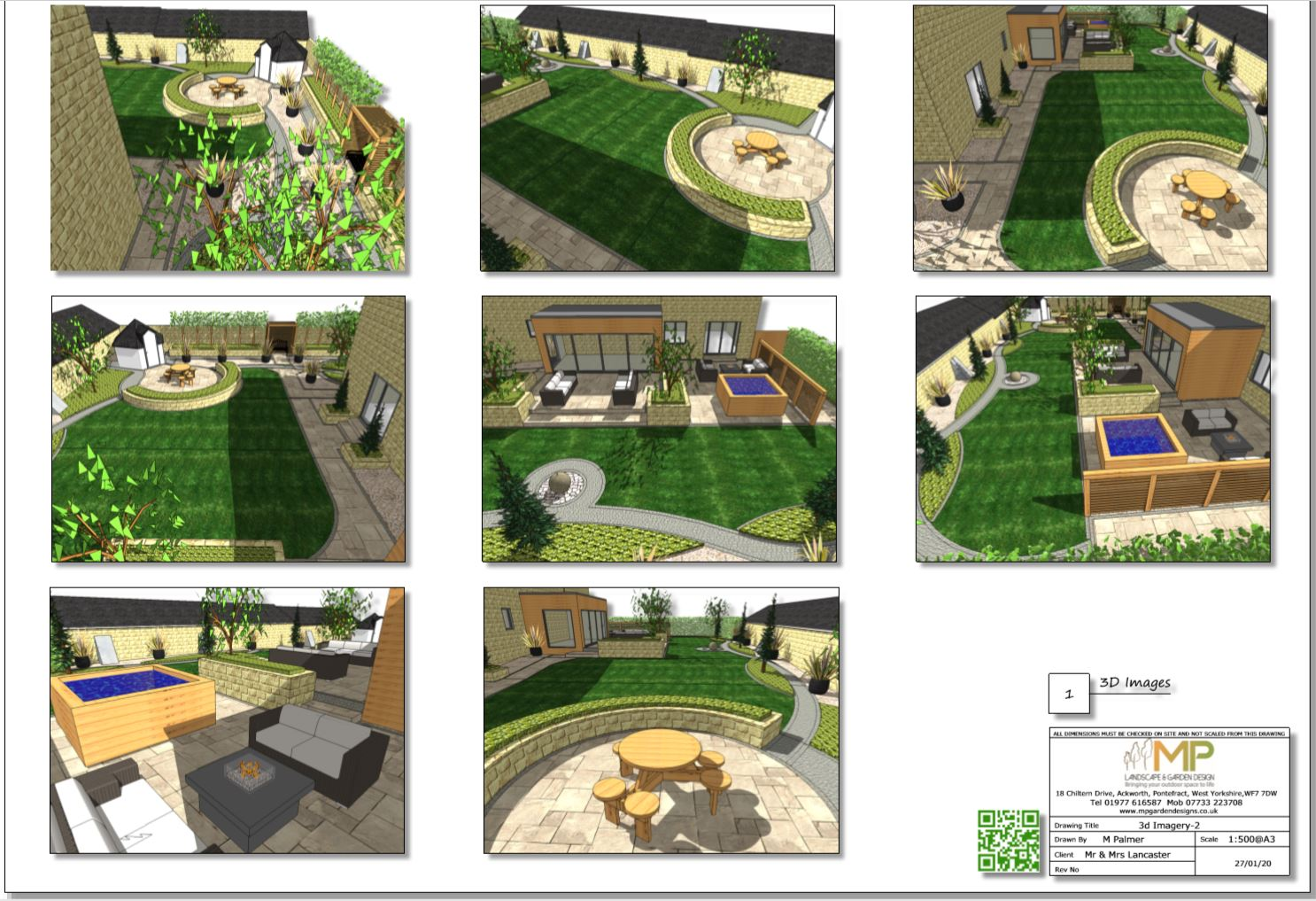 Colour 3D concept plan -2 for a property in Kirk Smeaton
