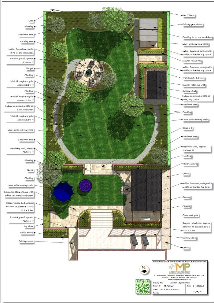 1. Landscape design layout plan for a property in Little Smeaton.