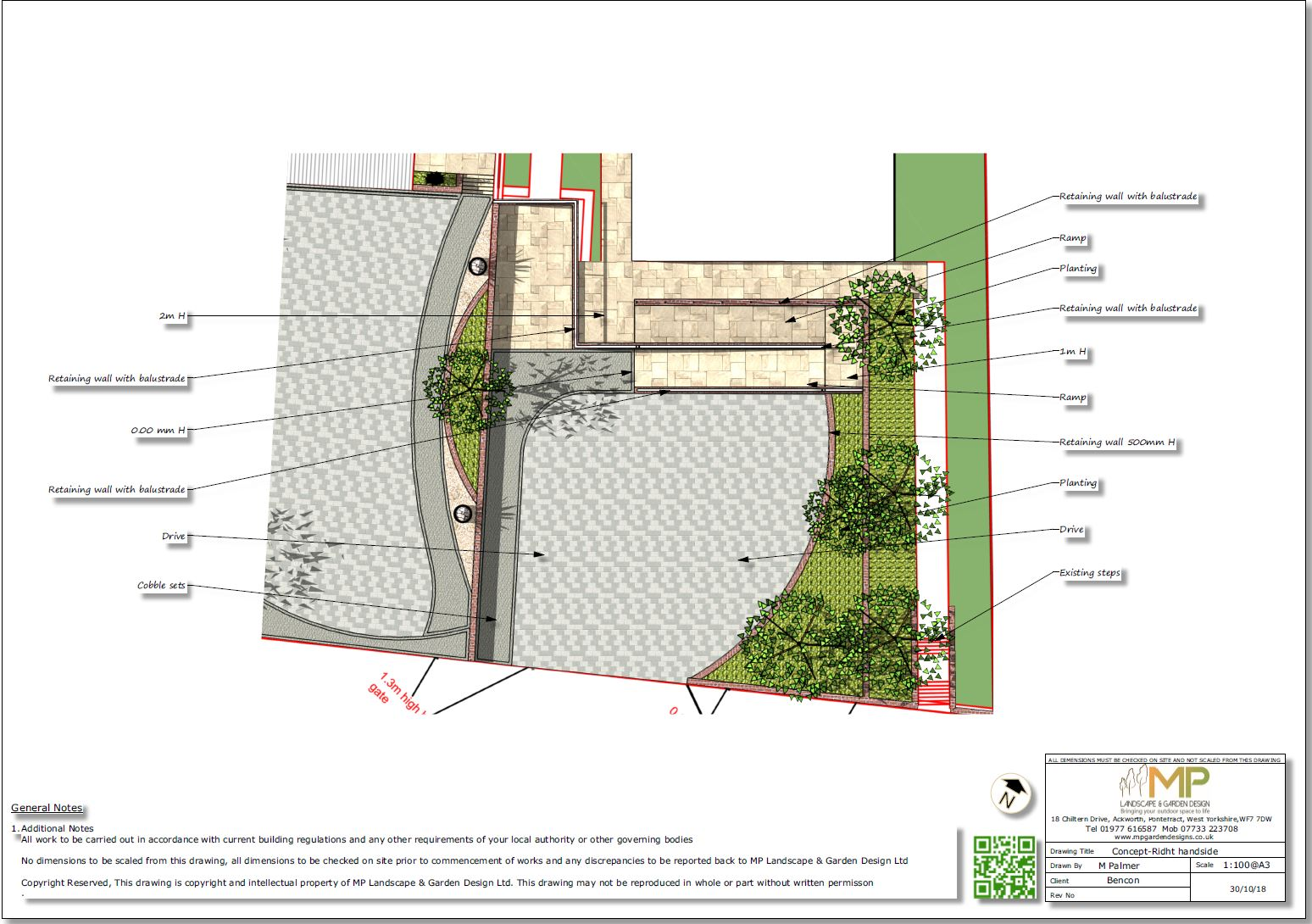 14. 3D images for a new build property in Uton West Yorkshire. Garden designer in Wakefield