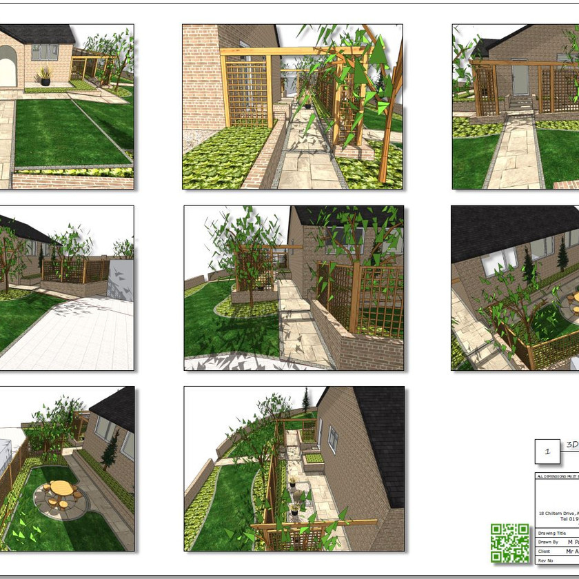 3, Concept plan,3D images-1 for a property in Featherstone.