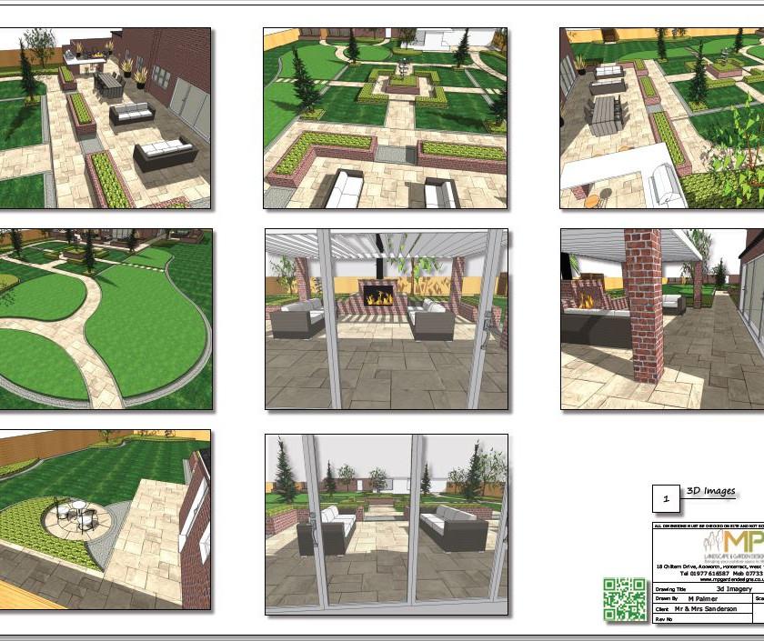 3, Landscape design colour 3D images concept plan-1, Castleford.
