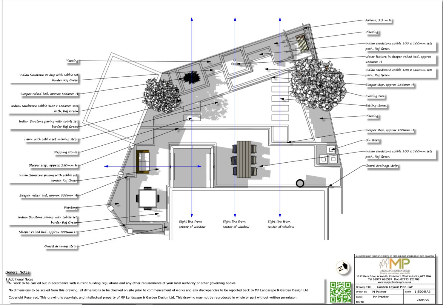 3, Garden layout plan for a rear garden South Kirkby
