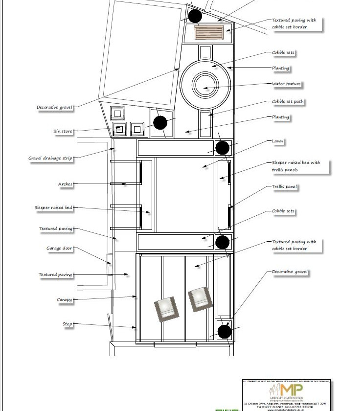 Concept plan-2 black & white for a new build property in Wakefield.