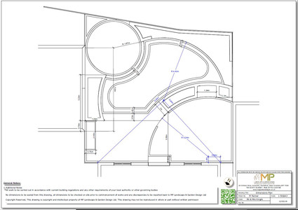 Garden design Plans for a new build property in Pontefract, West Yorkshire.