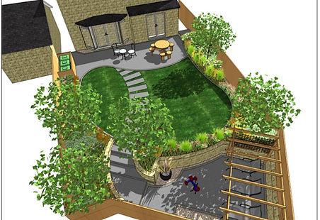 1, Garden design, overview, Wakefield.JP
