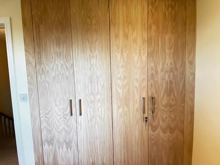 Oak veneer wardrobes
