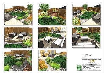 Garden design 3D Images, Wakefield
